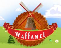 WAFFAMEL Logo and Website Design