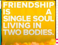 Poster Design - Missing, friendship?