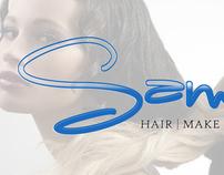 Sam Vega Hair & Make-up Business Card
