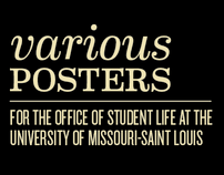 Various Posters for UMSL's Office of Student Life