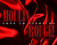 Moulin Rouge Typographic Poster
