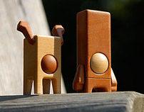 PEARBLOCK & PEARDEER Wooden Designer Toy Concept