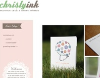 Christyink.com: E-Commerce Website
