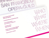 San Francisco Opera Fund Raising Event Invitation