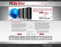 Database Service Web Design Template