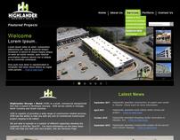 Commercial Contractor / Builder Web Design Template