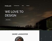 Pixellex One Page Portfolio Theme