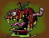 Rotten Apple Lowbrow Food Cartoon Character