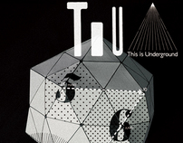 This is underground // Music event graphic