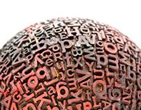 Typographic sphere