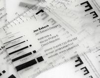 Jan Šabach Design business cards