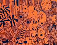 Orange Drawings Big & Small size.