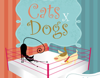 Infográfico Gatos x Cães