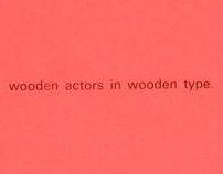 Wooden Type Letterpress Poster