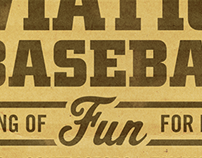 Aviation & Baseball Poster