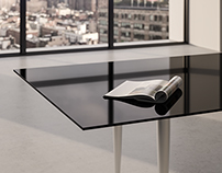 BACK PAINTED GLASS TABLES - SILVER COLLECTION