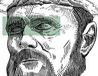 Surrealistic Dostoevsky's tattoo