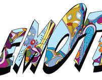 Emotes Color Splash Logo and Design