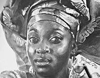 portrait studies with charcoal pencils...