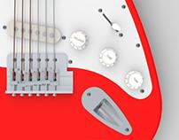 Fender Stratocaster (Solidworks)