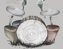 Mushroom drums