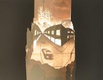 Paper light sculpture
