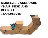Modular Cardboard Chair, Desk & Shelf (No Adhesives)