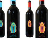 Jeweled Scarab Wine Bottles