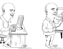 Newsletter Double Caricature