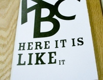 ABC Book Here It Is Like It