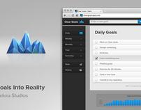 Clear Goals - A webapp to help people reach their goals