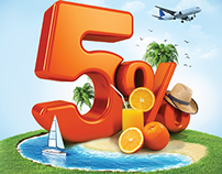 Gráfica promo 5% Cashback Discover