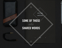 SOME OF THOSE who SHARED WORDS