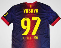 Nike FC Barcelona Custom Typeface 2013