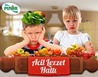 "Pınar ""Acil Lezzet Hattı"" Microsite"