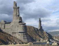 Matte Painting, Bunkers coast