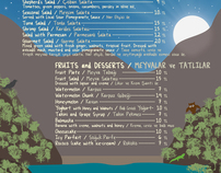 Turan Hill Lounge menu design