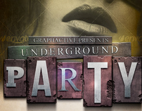 Underground Party Poster Template