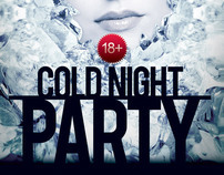 Cold Night Party Poster Template