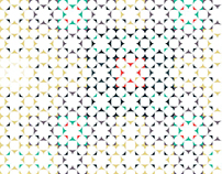 Overlap layered pattern font