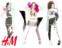 Fashion Illustration for H&M London