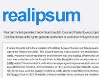 Real Ipsum