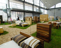 Exhibition of natural products for sustainable houses