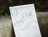 Wedding Stationery Suite | Amy + Erik