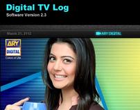 Digital TV Log Software Interface