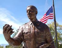 Custom Bronze Police Memorial Statues - UHP Trooper