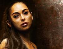 Boxer Girl Digital Painting