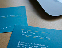 business card for a coach