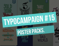 TYPOCAMPAIGN #15 The Poster Packs