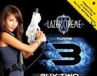 LazerXtreme 3rd Anniversary Newspaper Ad